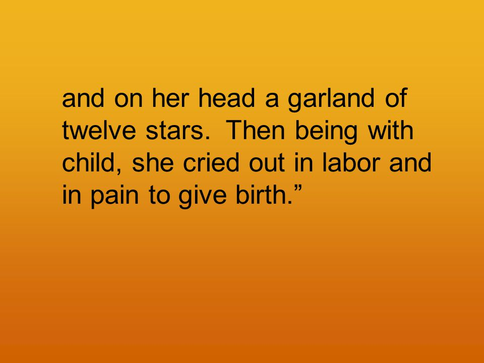 and on her head a garland of twelve stars.