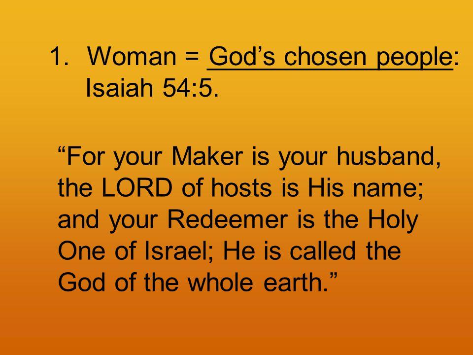 1.Woman = _________________: Isaiah 54:5.