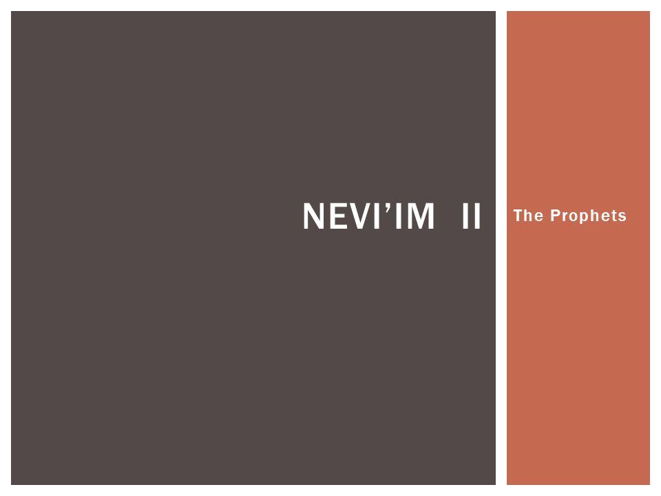 The Prophets NEVI'IM II