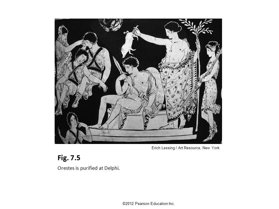 Fig. 7.5 Orestes is purified at Delphi. ©2012 Pearson Education Inc.