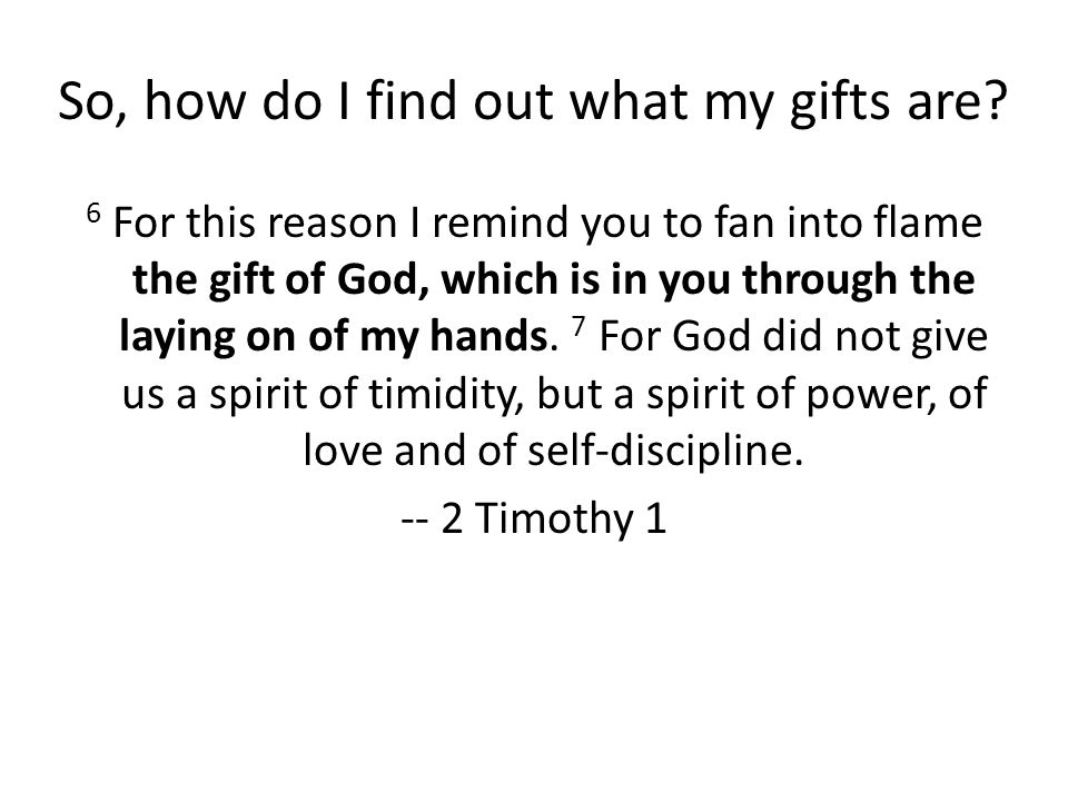 What happens if I honestly am not eagerly desiring my gifts.