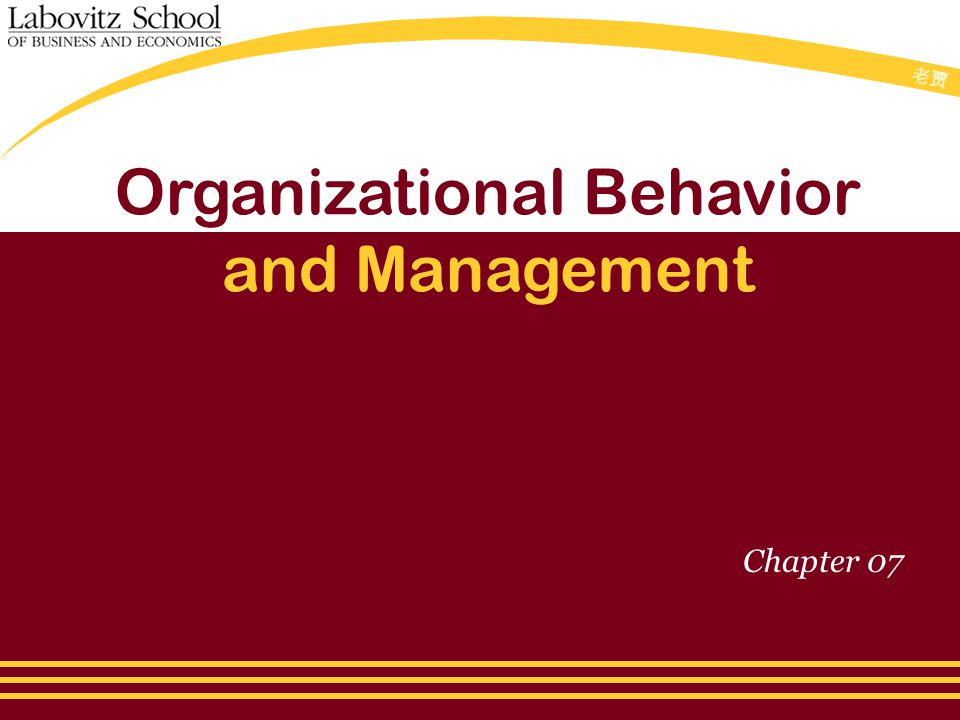 老贾老贾 Organizational Behavior and Management Chapter 07