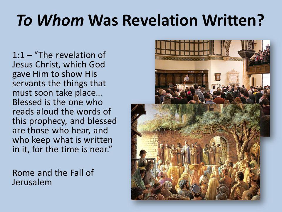 To Whom Was Revelation Written.