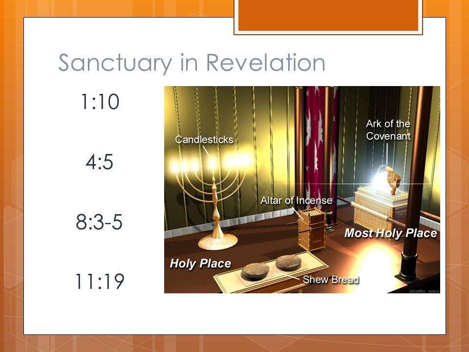 Sanctuary in Revelation 1:10 4:5 8:3-5 11:19