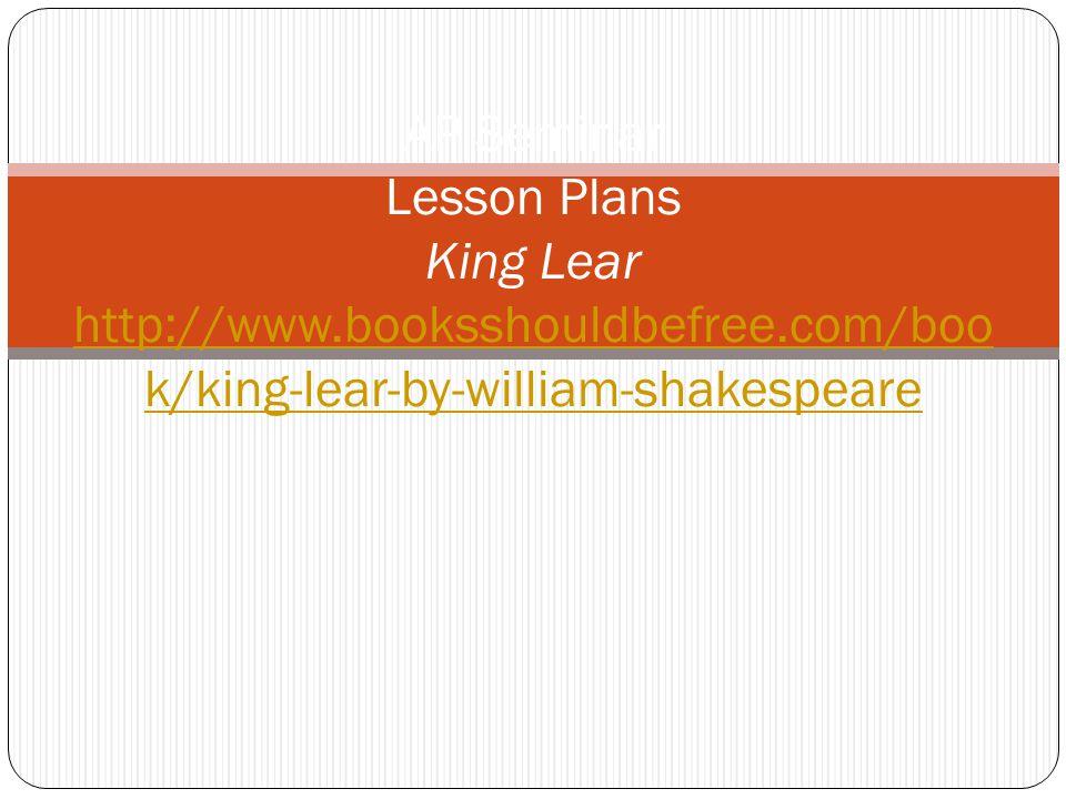 King Lear, Act IV, Scenes i-iii Group1 Procedure 1.