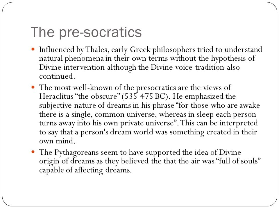 The Stoics & Cicero Cicero (106-43 BC): On divination – discusses the divinatory power of dreams and other forms of divination in the Ancient world such as astrology, haruspicy (predicting from remains of sacrified animals) and augury (predicting from omens and signs).