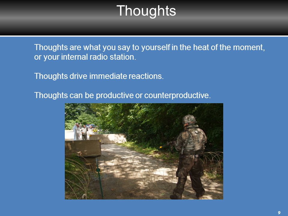 Thought-Consequence Connections Some people find that there is a pattern in their Thoughts–that they relate to a certain theme.