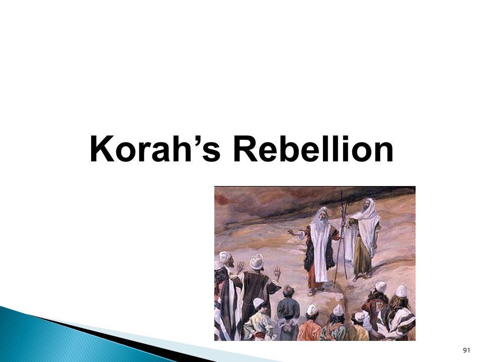 91 Korah's Rebellion