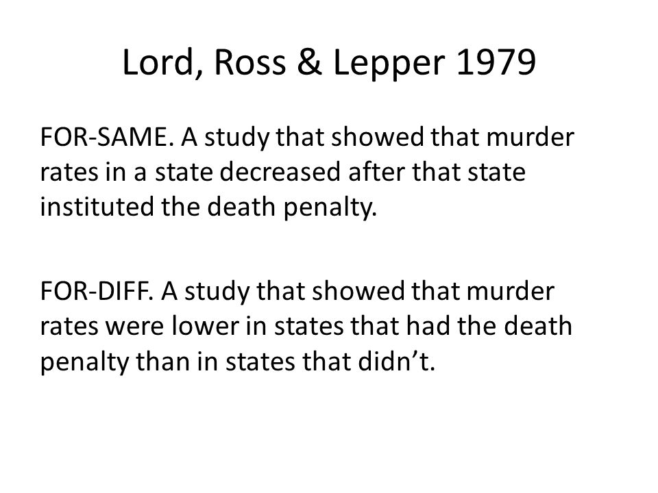 Lord, Ross & Lepper 1979 FOR-SAME.
