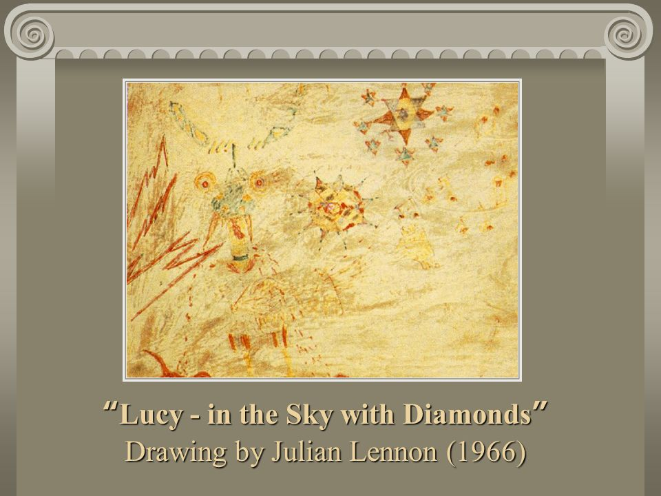 Lucy - in the Sky with Diamonds Drawing by Julian Lennon (1966)