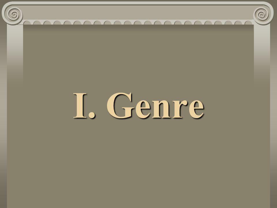 I. Genre