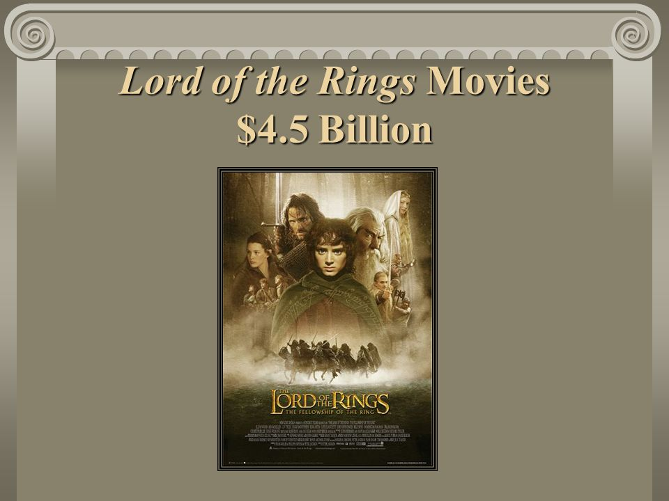 Lord of the Rings Movies $4.5 Billion