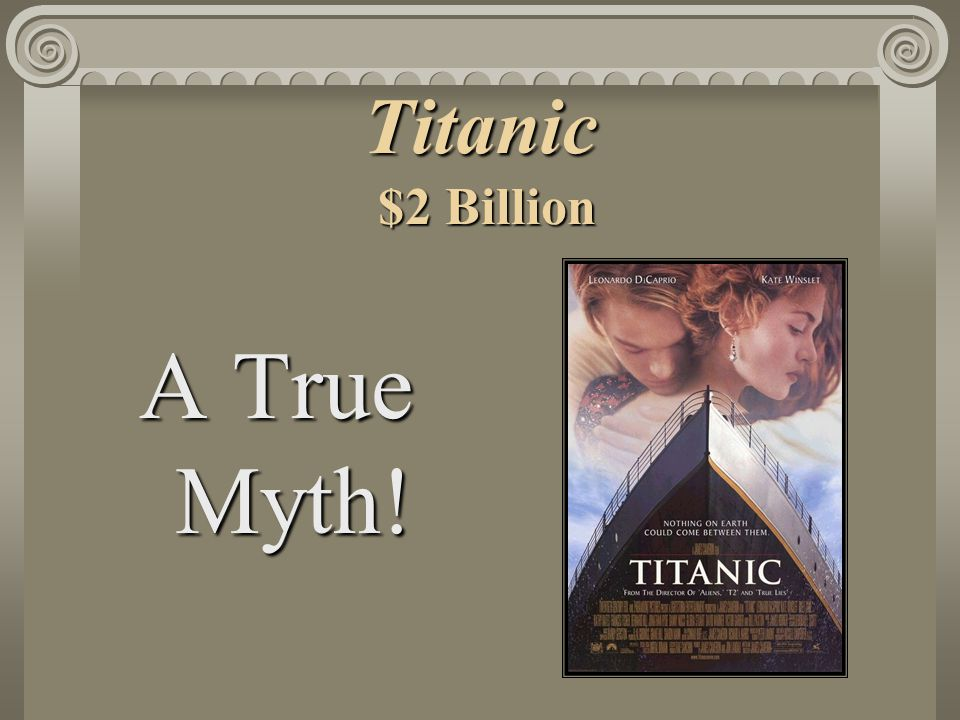 Titanic $2 Billion A True Myth!
