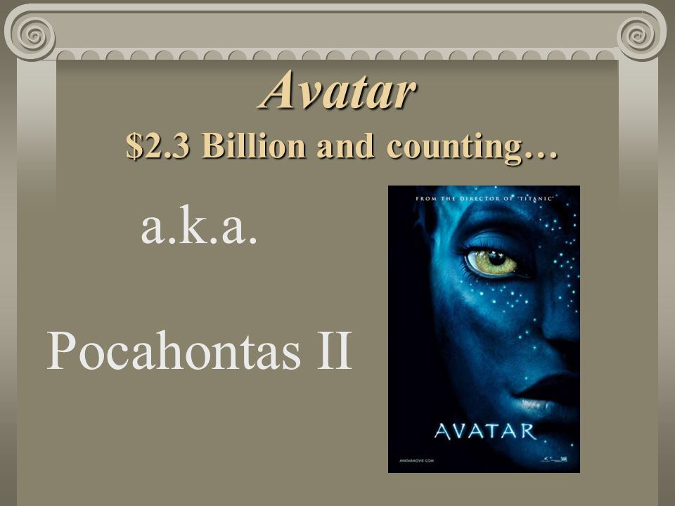 Avatar $2.3 Billion and counting… a.k.a. Pocahontas II