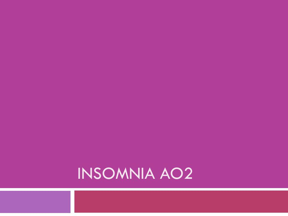 Just to remind you – how do we explain insomnia. Types  Initial, middle, terminal.