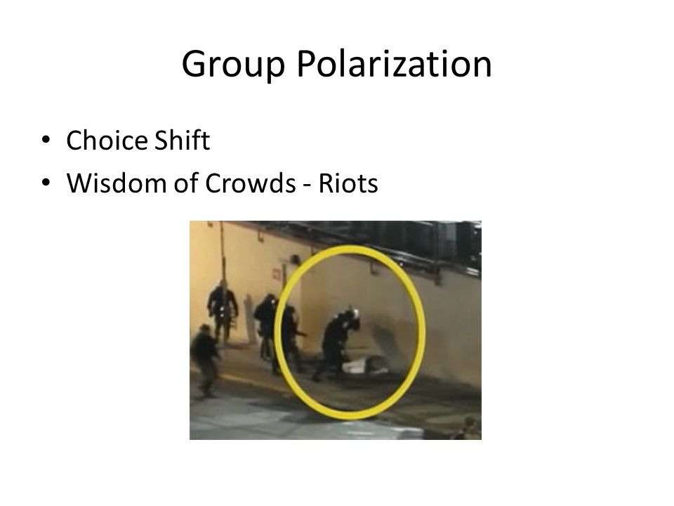 Group Polarization Choice Shift Wisdom of Crowds - Riots