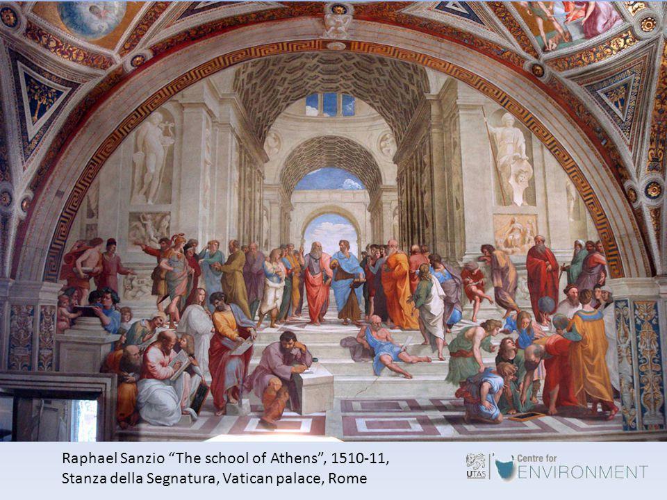 Raphael Sanzio The school of Athens , 1510-11, Stanza della Segnatura, Vatican palace, Rome