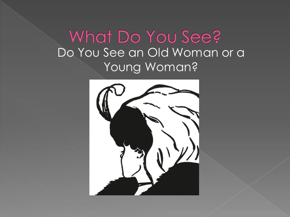 Do You See an Old Woman or a Young Woman