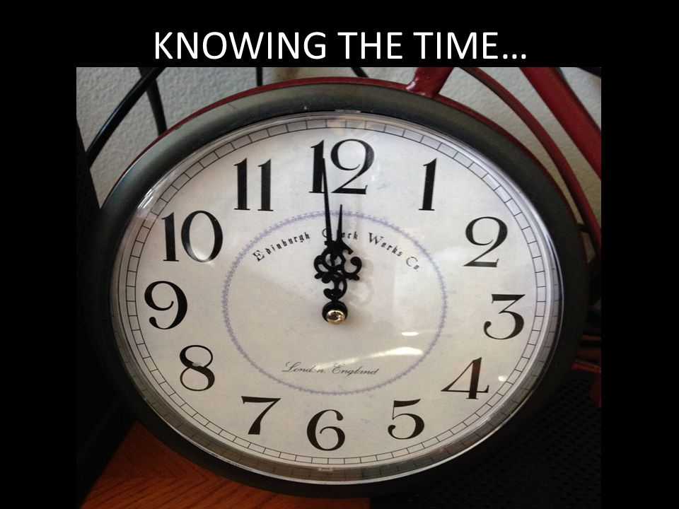 KNOWING THE TIME…