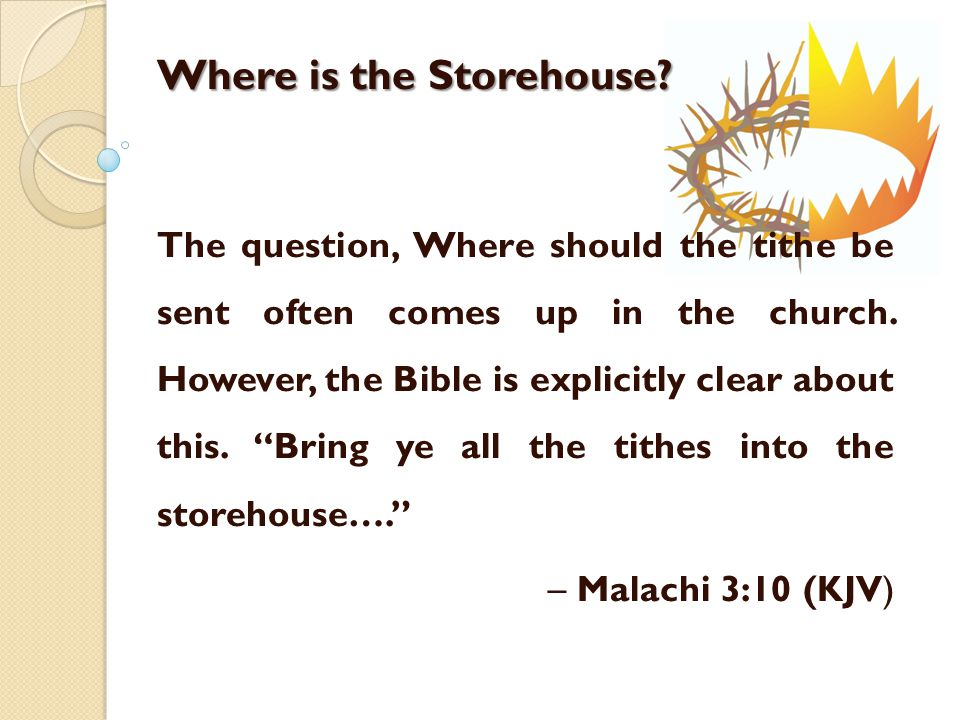 In O.T.times the tithe was used for the temple services.