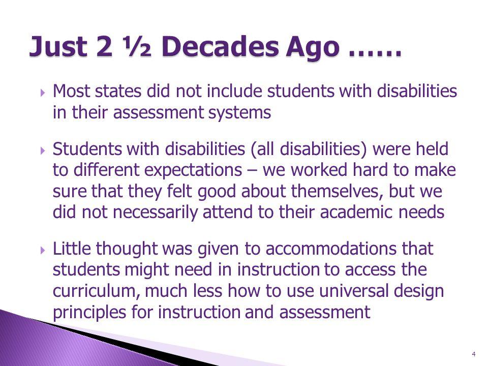 25 General Curriculum Standards Transition Skills Access Skills Standards-based, not Standards-bound.