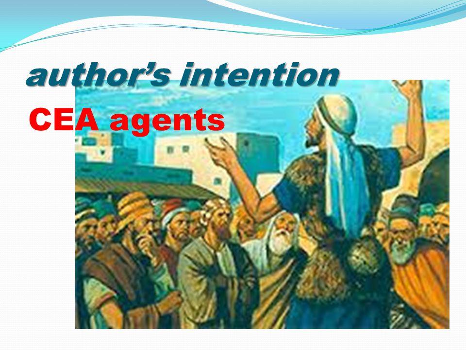 author's intention CEA agents