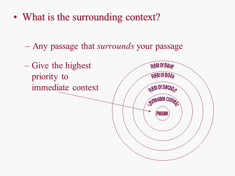What is the surrounding context What is the surrounding context.