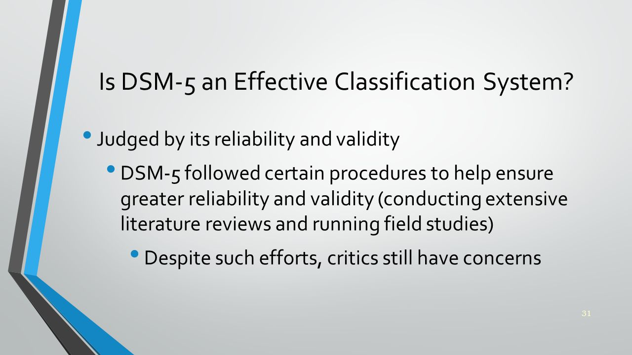 Is DSM-5 an Effective Classification System.