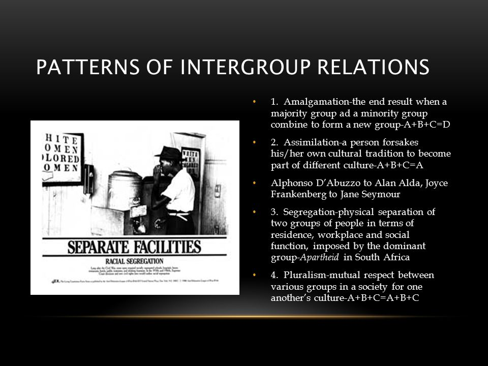 PATTERNS OF INTERGROUP RELATIONS 1.