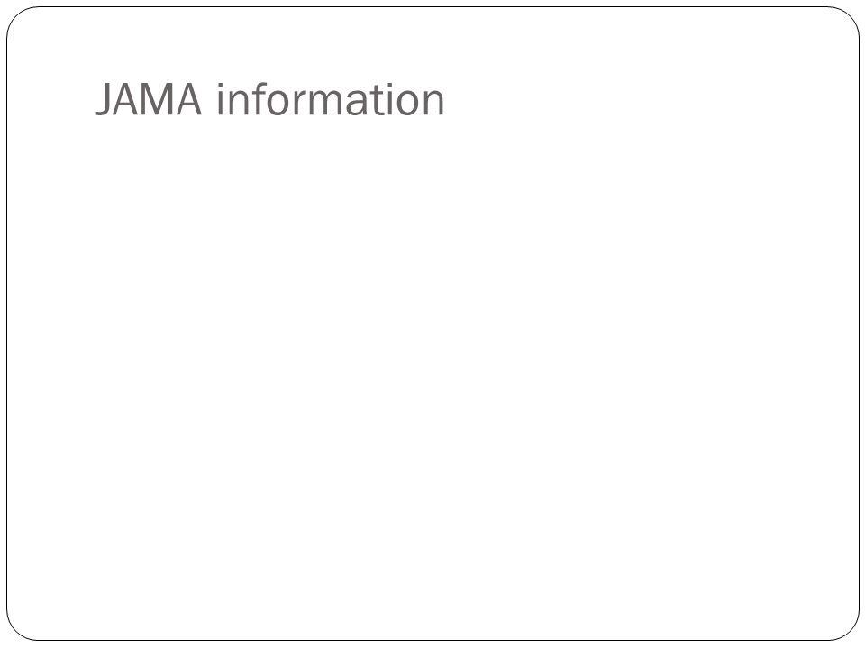 JAMA information