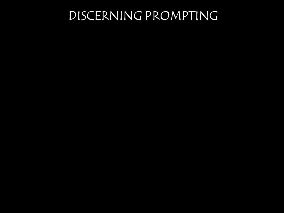 DISCERNING PROMPTING