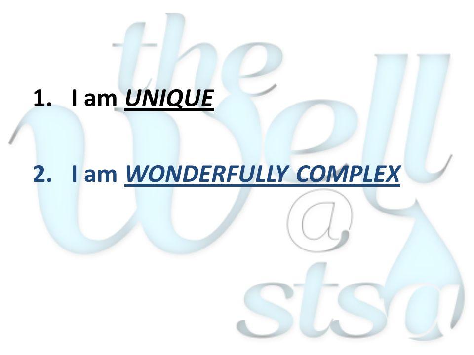 2.I am WONDERFULLY COMPLEX