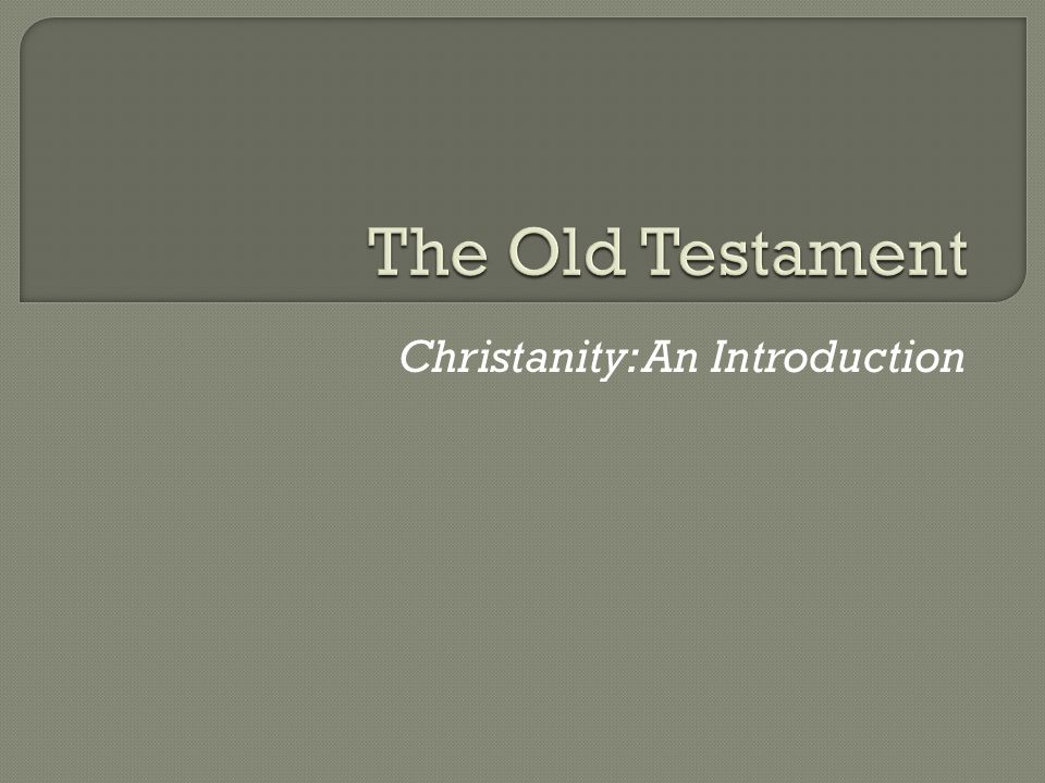 Christanity: An Introduction