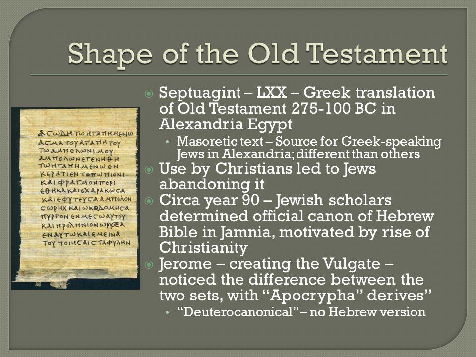  Hebrew Canon – 24 books (See p.