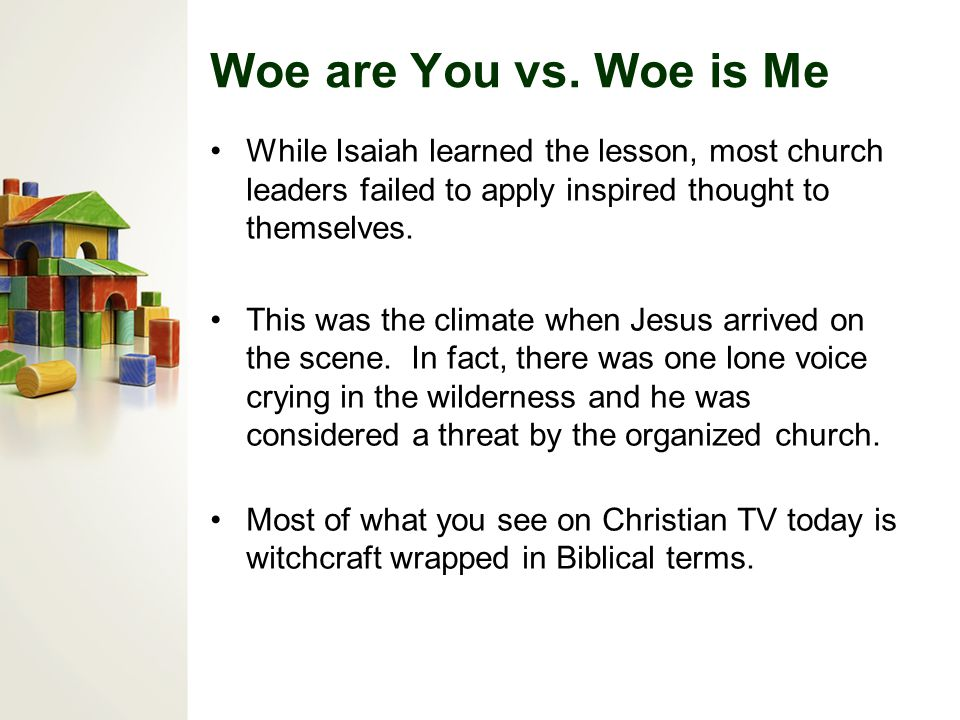 Woe are You vs.