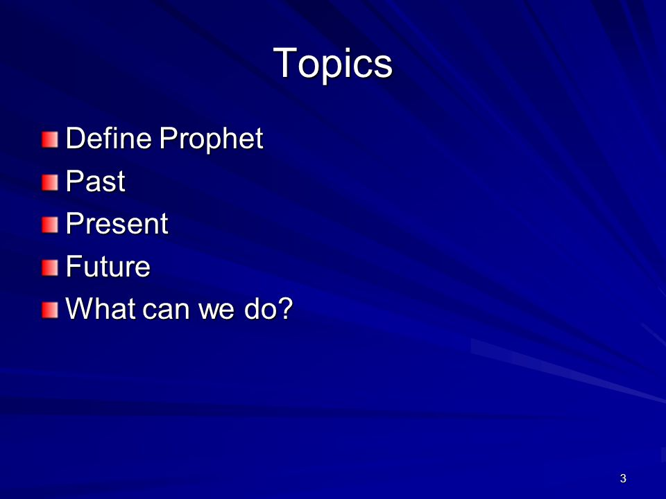 4 Meaning of 'Prophesy' Hebrew –Naba (naw-baw) –A primitive root; to prophesy, that is, speak (or sing) by inspiration (in prediction or simple discourse): - prophesy (-ing) make self a prophet.