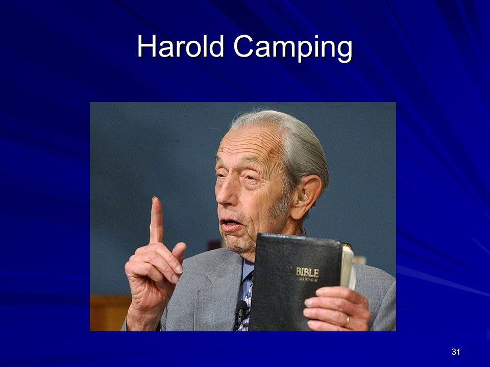 31 Harold Camping