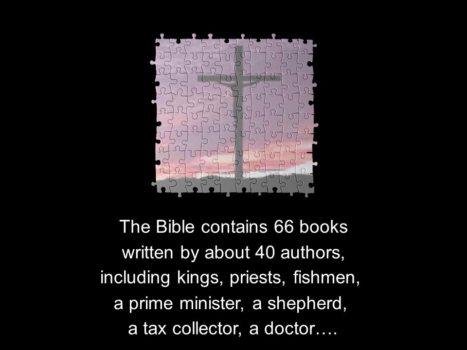 These books were written across 1600 years.