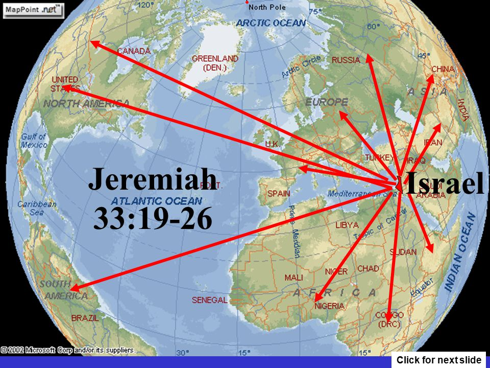 Israel Jeremiah 33:19-26 Click for next slide