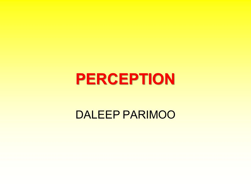 PERCEPTION DALEEP PARIMOO