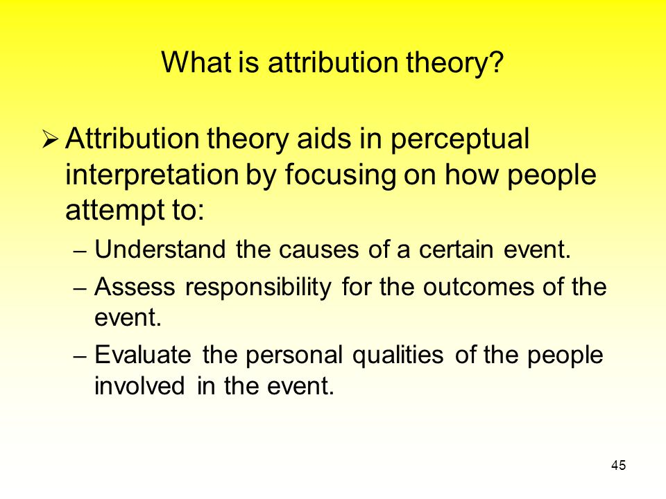 What is attribution theory.