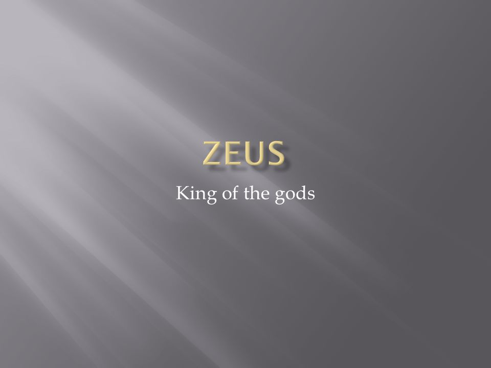  Despite being married to Hera Zeus had many lovers and fathered many children.