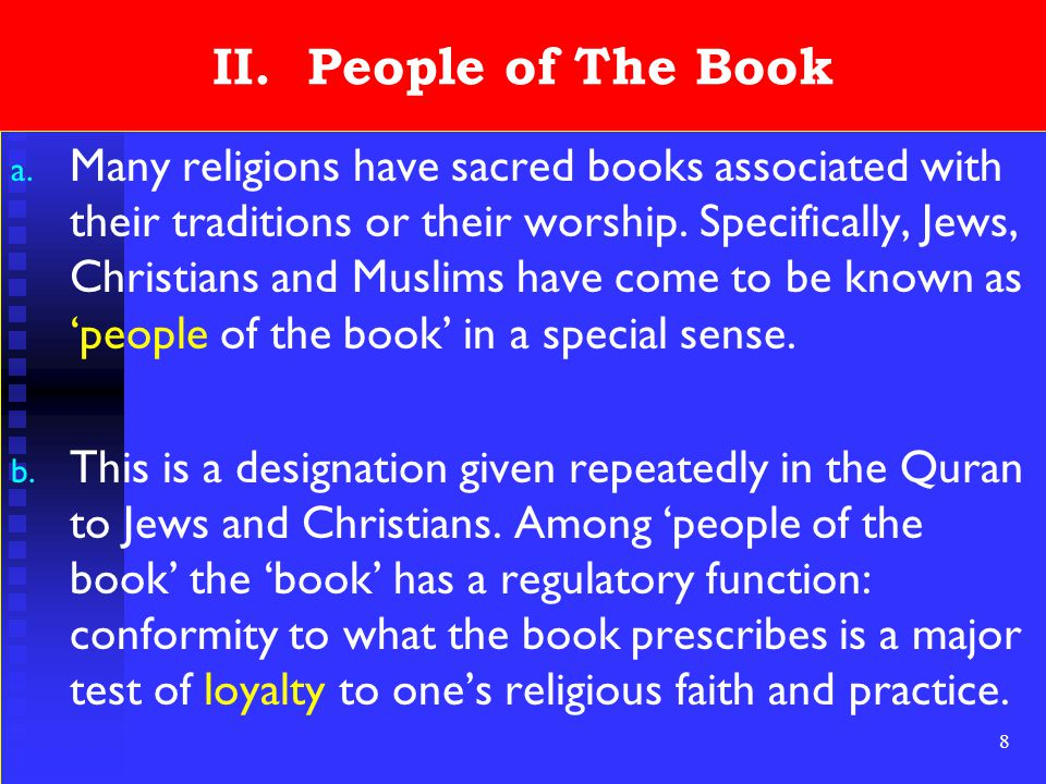 9 II.People of The Book c.