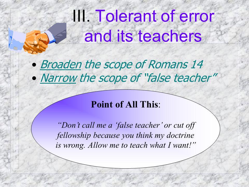 False Teacher Teaches error / false doc. Dishonest .