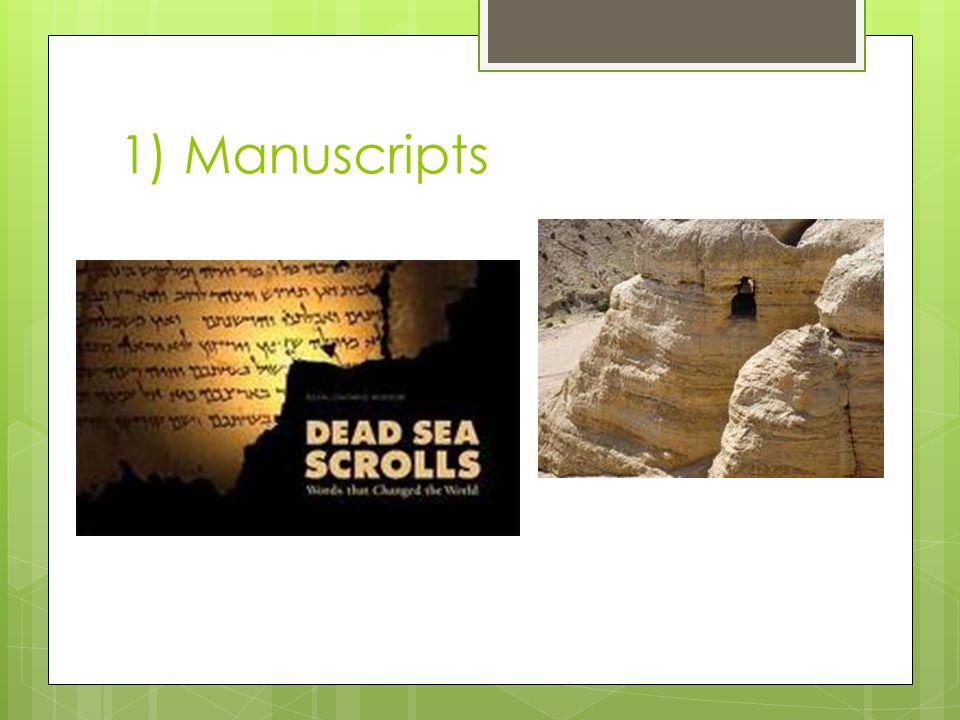 1) Manuscripts