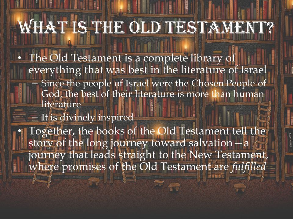 What do you mean the New Testament fulfills the Old Testament.