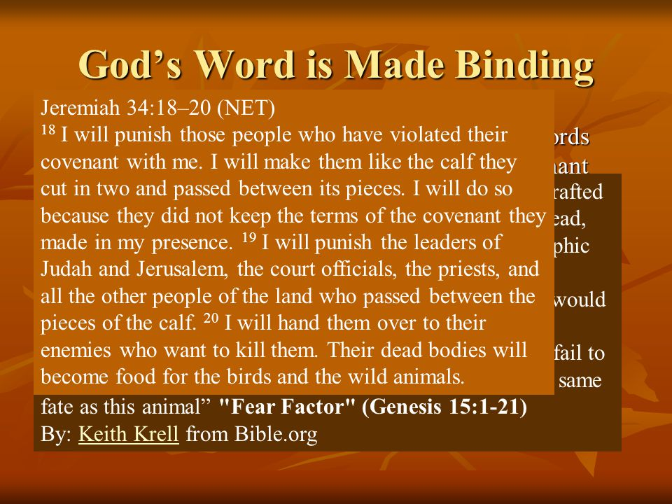 They Oppose God's Contracts 11 When birds of prey came down on the carcasses, Abram drove them away.