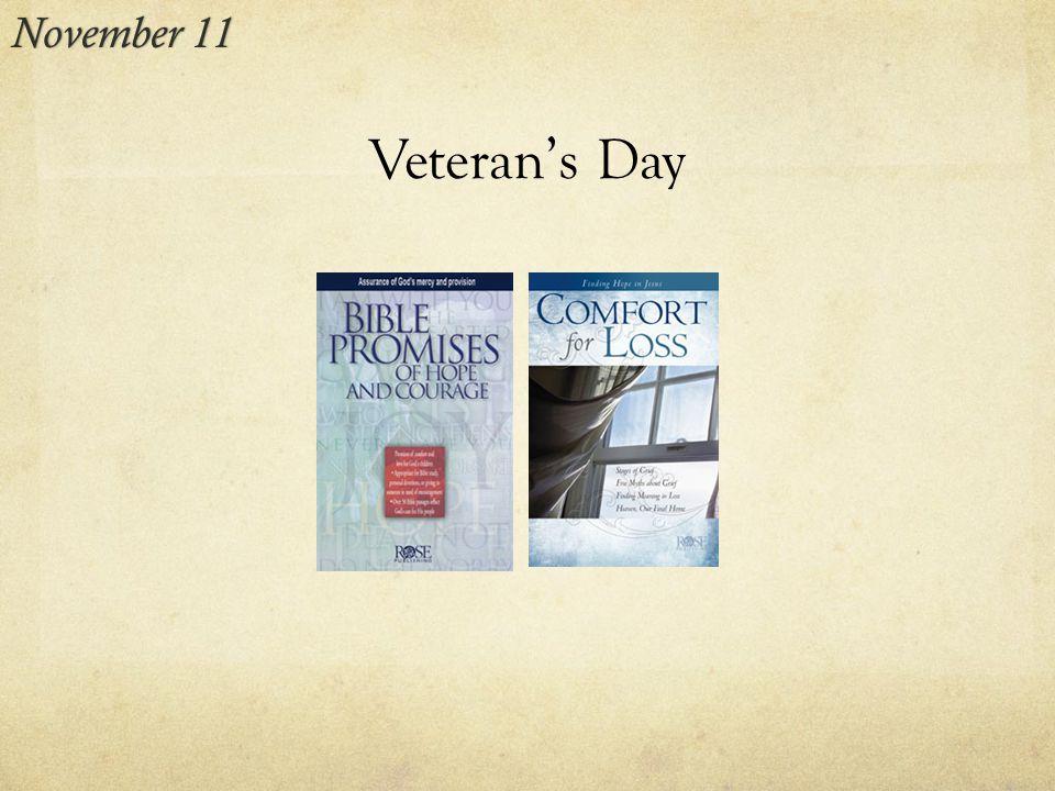 Veteran's Day November 11November 11