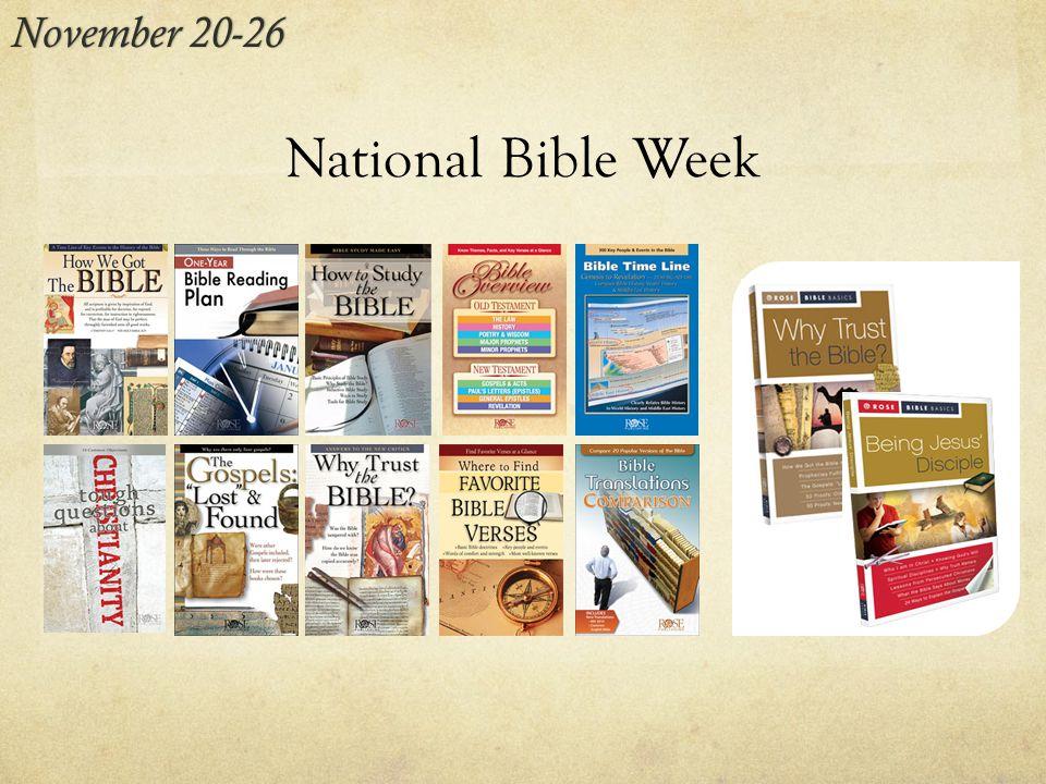 National Bible Week November 20-26November 20-26