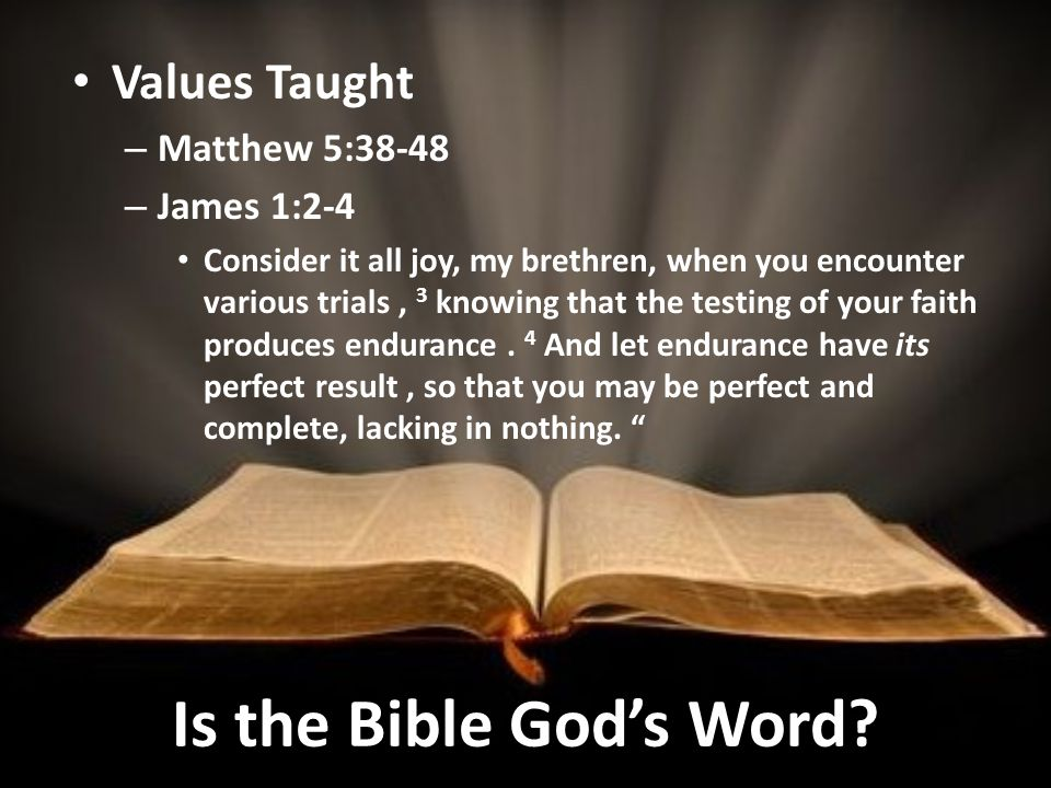 Is the Bible God's Word.